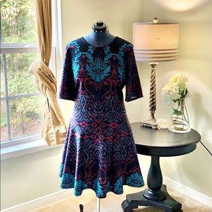 🌺Danny & Nicole Multicolored Scuba Dress Size 18W